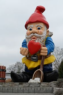 The biggest garden gnome in the world, in Nowa Sól, Poland  (Wikipedia)